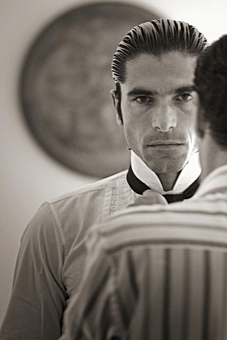 black and white portraits Travel matador spain kids editorial people men bull fighting