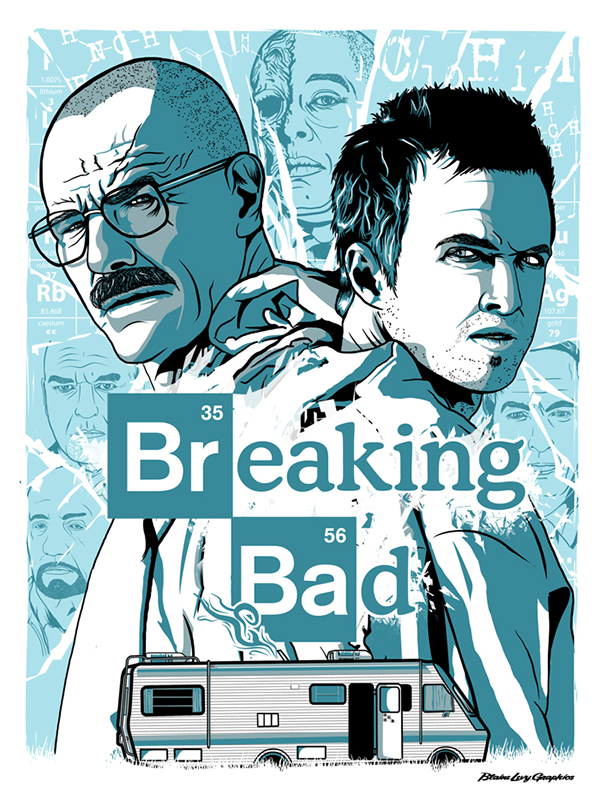 breaking bad blue sky fan art poster on behance. Black Bedroom Furniture Sets. Home Design Ideas