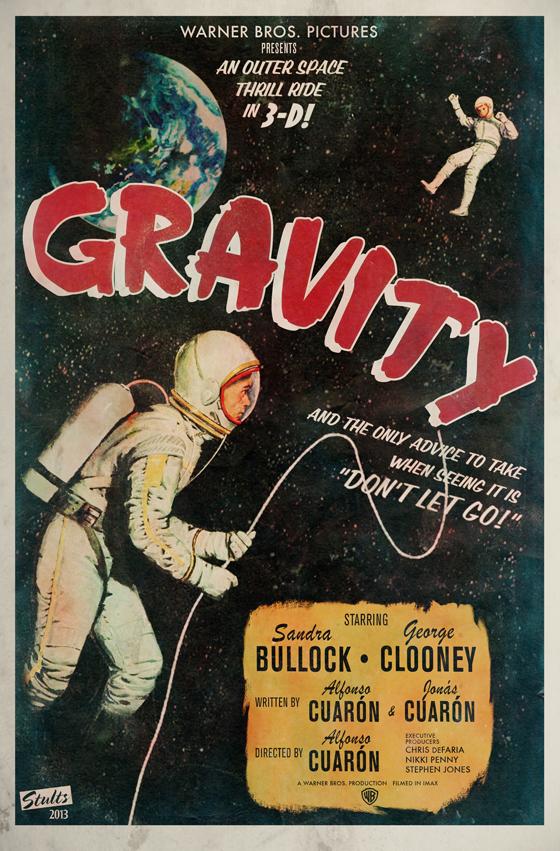 gravity alternative movie poster on behance