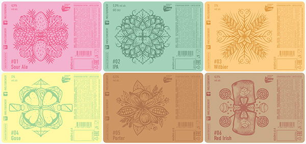Beer packaging design | Дизайн пивных этикеток