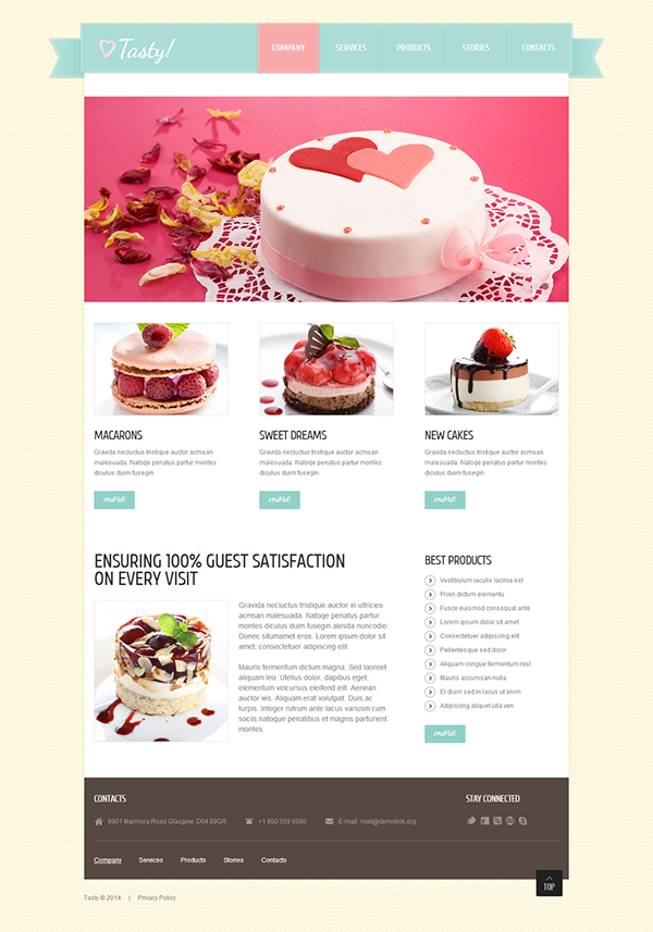 Cake shop joomla template on behance forumfinder Images