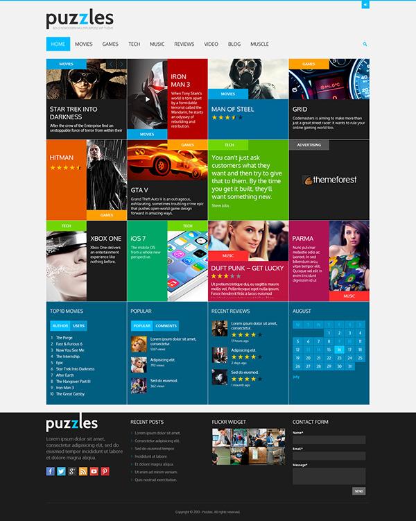 Puzzles - WordPress Magazine/Review Theme