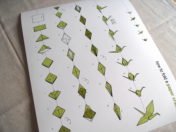 How to fold a paper crane on behance for Crane folding instructions