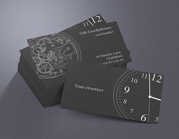 Business card watchmaker on behance thank you reheart Choice Image
