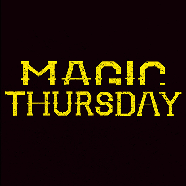 Magic thursday is considered as an indie rock band this project produced album cover badges stickers and gig poster