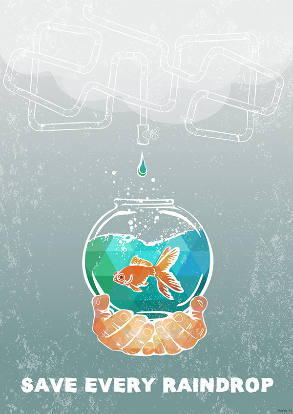 Rainwater harvesting poster on behance altavistaventures Gallery