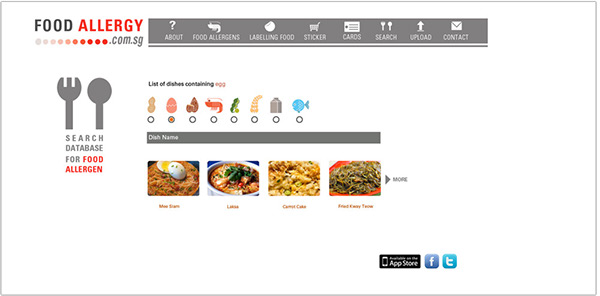 Final year project food allergy identification on behance list of dishes containing food allergen forumfinder Images