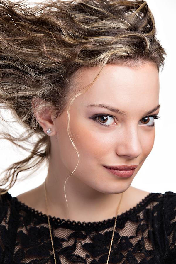 Studio portrait fashion model