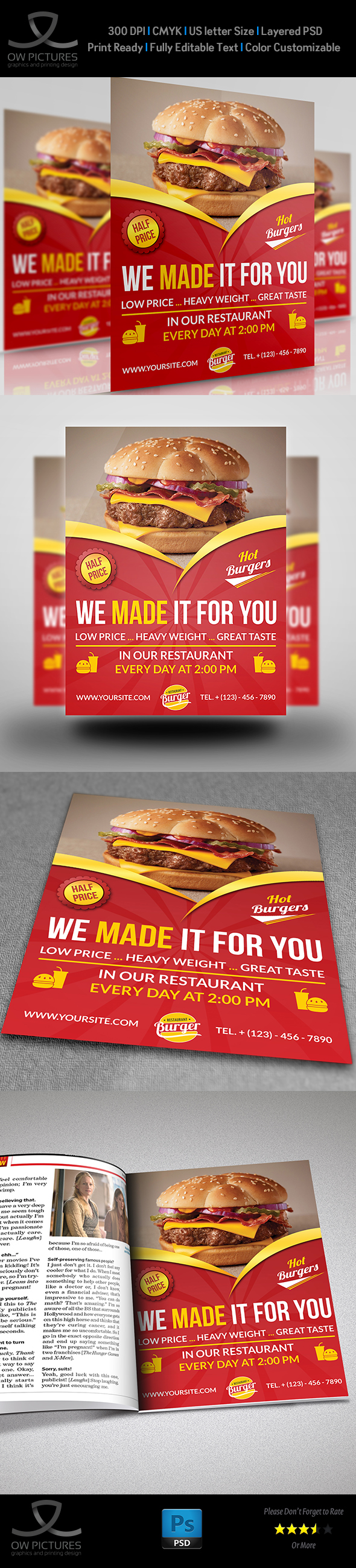restaurant flyer template vol7 on behance