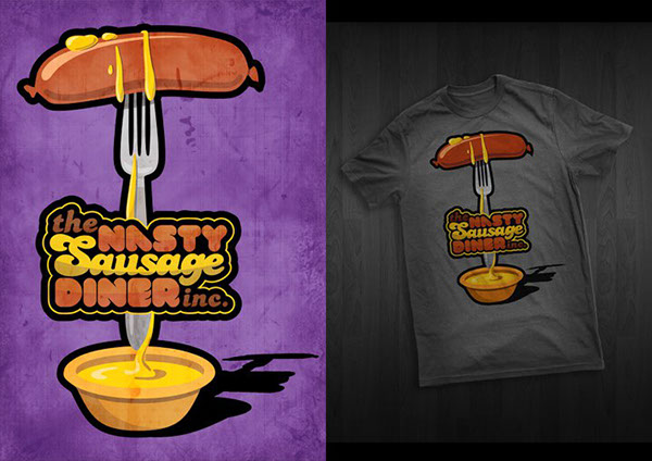 Food  t-shirt ice-cream sausage racism pidgeon Cheese Gas clothes mainstream Shit fat mustard cool Urban smelly Stand dinner restaurant bubadesign free shirt