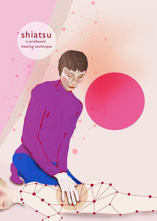 de vinger,shiatsu,Commissioned work,flyers,posters,banners