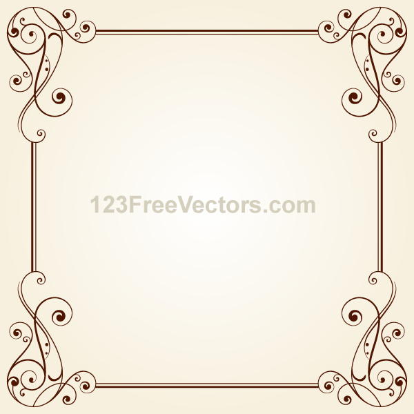 Vintage Ornate Frame Border Design Vector on Behance