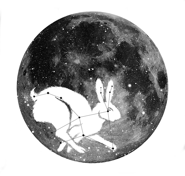 02e783efb I developed this from an idea for a tattoo, which I may or may not still  get. Lupus is a constellation in the shape of a hare, which I combined with  the ...
