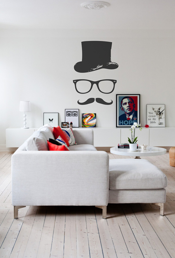 Hipster wall murals decals on behance for Pixers your walls and stuff