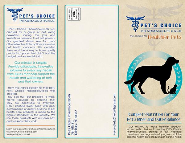 Pet's Choice Pharmaceuticals brochure on Behance