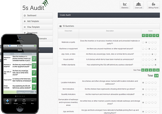 5s checklist iphone |5 s Audit software |web app mobile on Behance