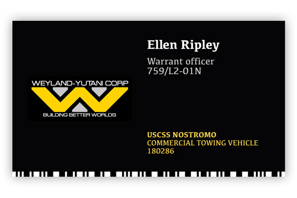 Business cards of movie characters on behance colourmoves Gallery