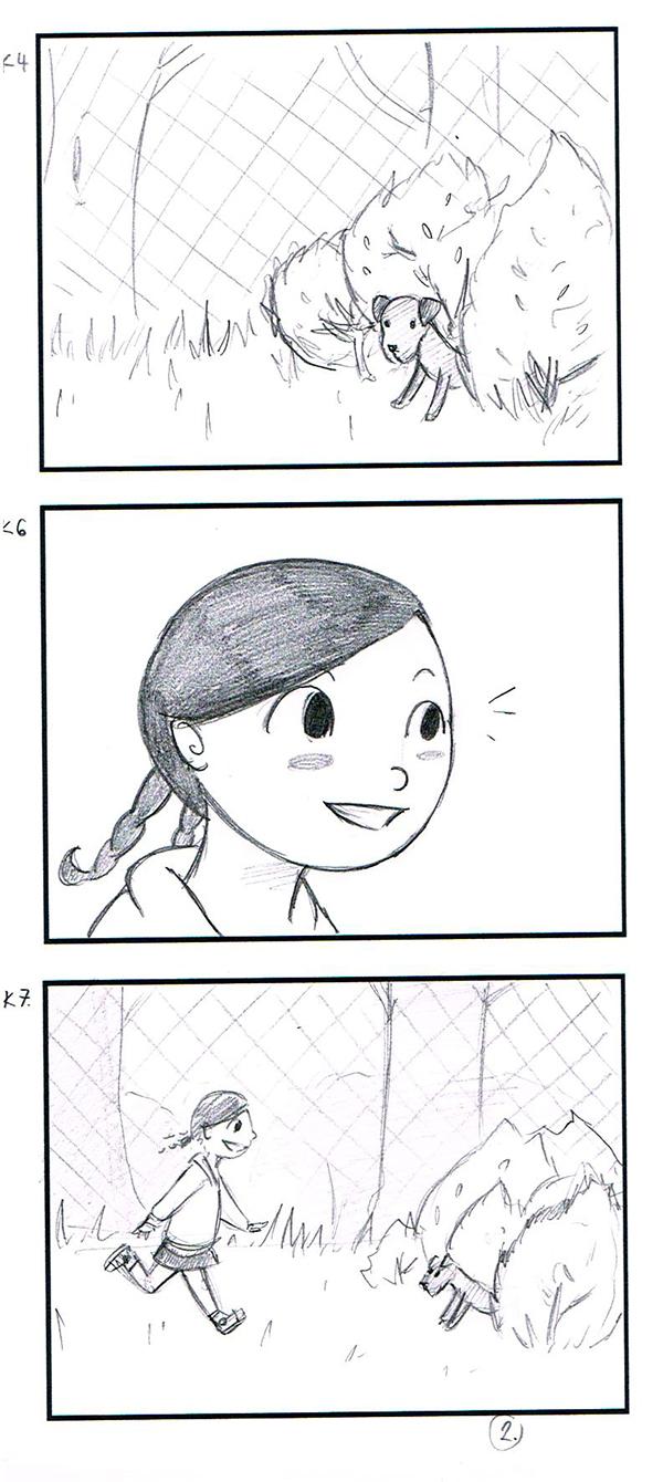 storyboard pets kids educational film