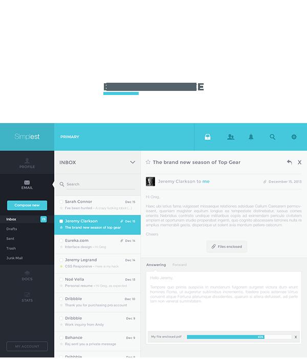 UI ux app desktop Web minimal flat mac osx simple Email dashboard analytics statistics