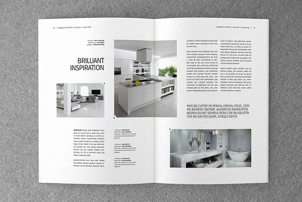 Clean minimal layout inspiration 01 on behance for Architectural design magazine free download