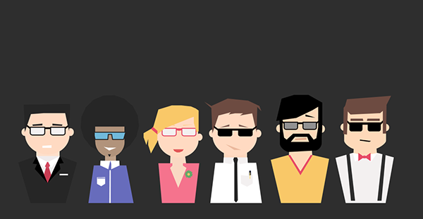 flat design avatars characters icons free