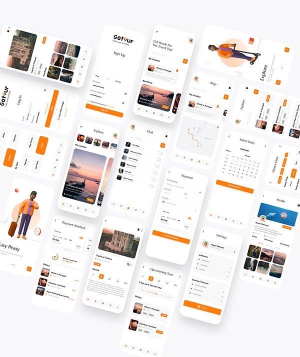 "Travel app design ""Gotour"""