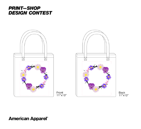 6c5109efa3f6 ... bag designs for entry to the American Apparel design competition. I  created a summer flower
