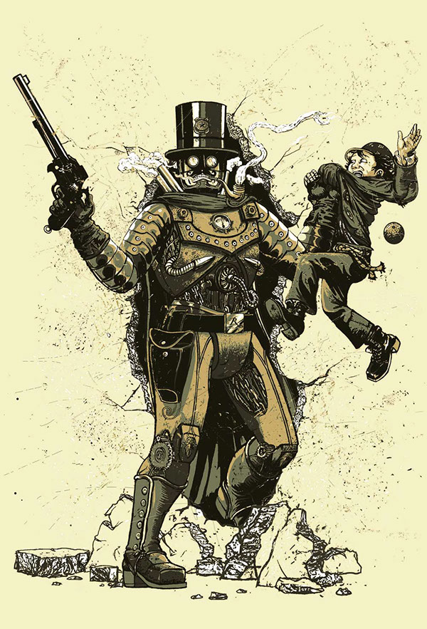 how to draw steampunk characters
