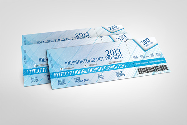 Event tickets mock up v2 on behance for Create event tickets free