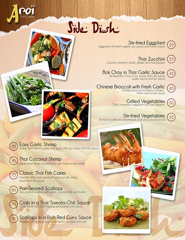 Aro thai cuisine menu design on behance for Ar roi thai cuisine