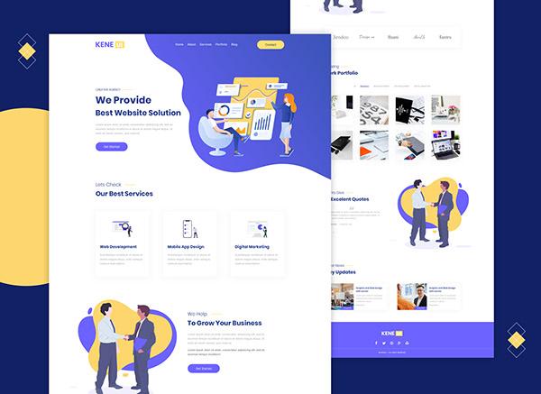 Creative agency website UI design
