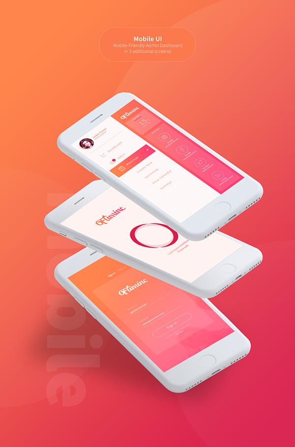 Fliminc - Free Admin Dashboard UI PSD Mockup
