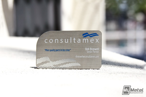 Brushed stainless steel business card on behance colourmoves