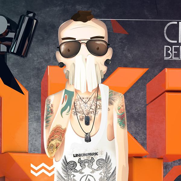 Chester Cheetah Illustrations On Behance: CHESTER BENNINGTON On Behance