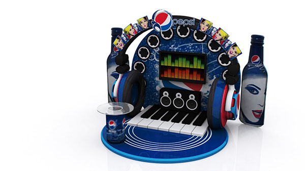 Pepsi Music Booth And Display
