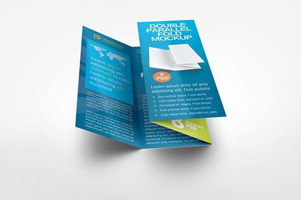 double fold brochure template - double parallel fold brochure mockup on behance