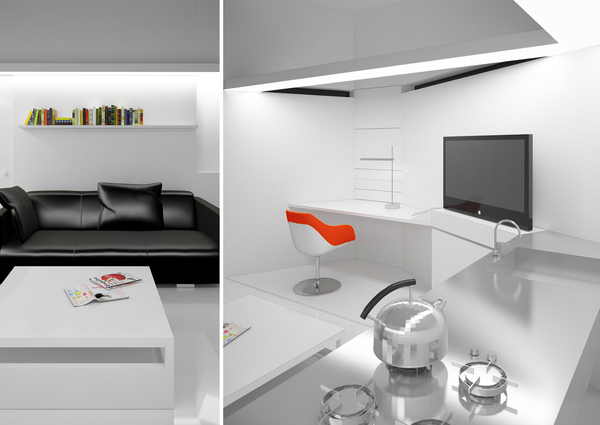 design home interior cube house on behance 11379