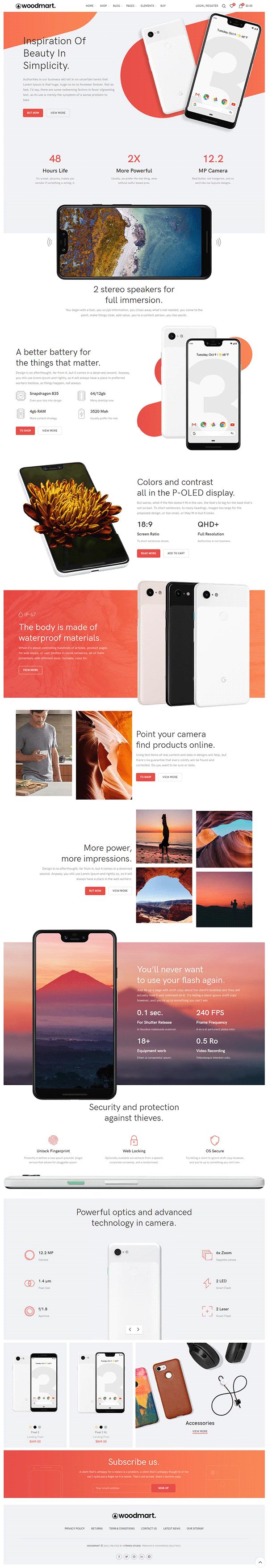 Online Mobile Shop | Wordpress Theme