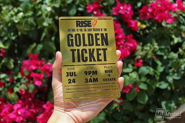 Metal Golden Ticket Invitation Pass on Behance