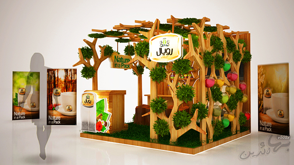 Exhibition Stand Nature : Royal natural herb booth on pantone canvas gallery