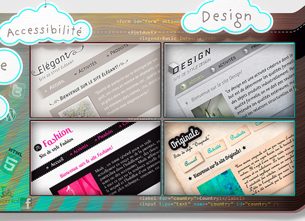 Webdesign slider Illustrator Web design illucolor.fr illucolor