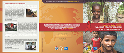 cdc division of global hiv aids recruitment brochures on behance
