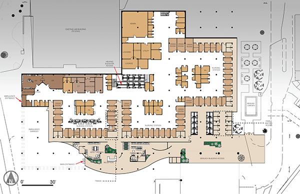 Saint francis medical center emergency department on behance for Emergency room design floor plan