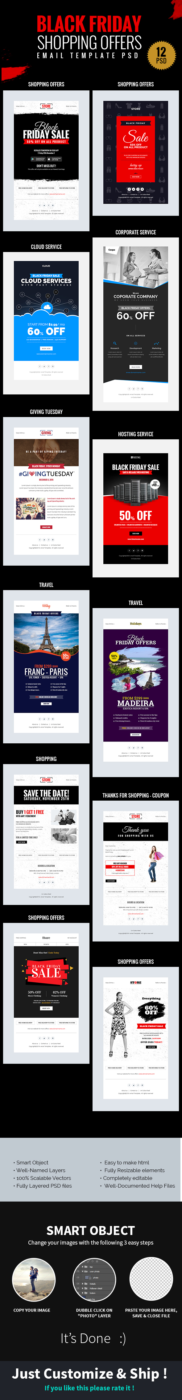 Black Friday Shopping Offers Email Template Psd On Behance