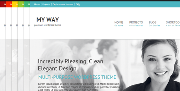 BudyPress business clean wordpress theme creative Theme custom colors custom features Custom front page posts elegant theme Projects Portfolio Shortcodes