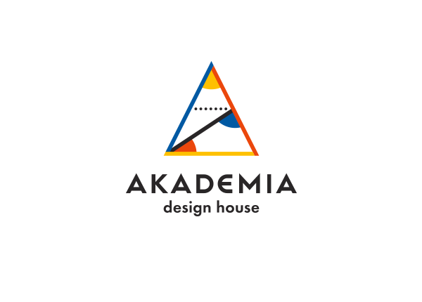 geometric logo identity flat design triangle