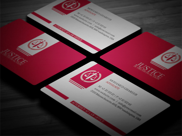 Creative lawyer business card 5 on behance creative and clean lawyer business card in 3 colors editable text layers or colors shape layers in easy way colourmoves