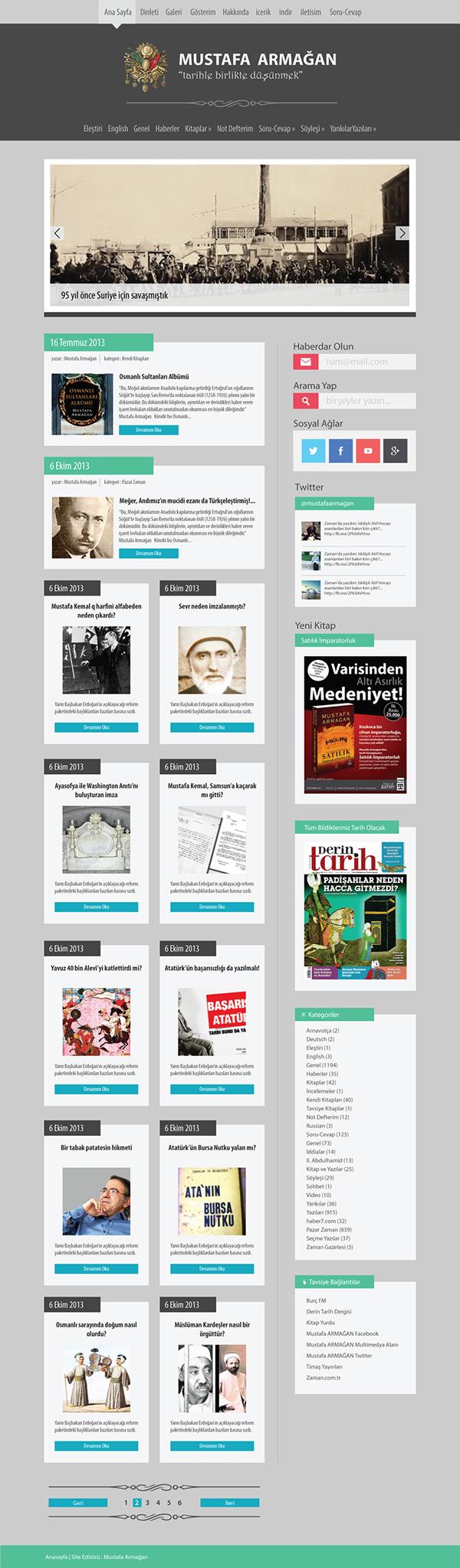 Blog flat design turquouse green Minimalism