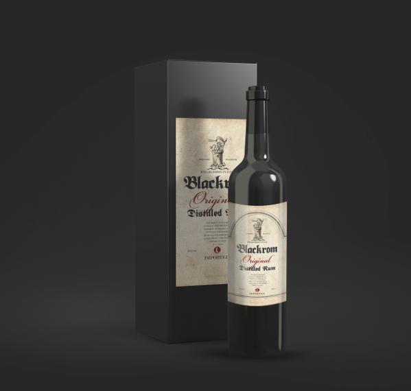 bottle design font free Typeface blackrom download Blackletter wine product