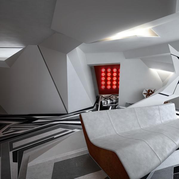 Deconstructivism Furniture Interior Design ~ Deconstruction on behance